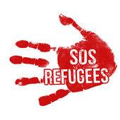 SOS Refugees — Stock Vector
