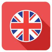 A uk flat flag icon — Stock Vector