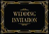 An art deco style invitation card — Vettoriale Stock