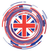 Uk flag abstract icon — Stock Vector