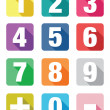 Number flat icon sets — Stock Vector #53780213
