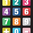 Number flat icon sets — Stock Vector #53780217