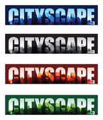 Cityscape overprint background set — Stock Vector