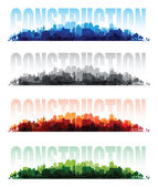 Cityscape overprint backgrounds — Stock Vector