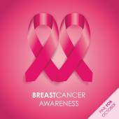 Breast cancer awareness ribbon — Stock Vector
