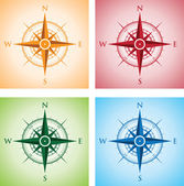 Colourful set of compasses — Stock Vector
