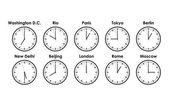 World clocks — Stock Vector