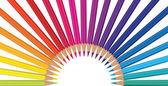 Pencil rainbow color — Vecteur