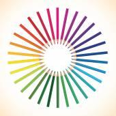 Pencil rainbow color — Stock Vector