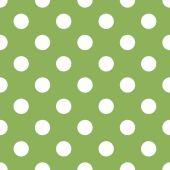 Bezešvé zelené polka dot pozadí — Stock vektor