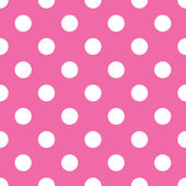 Seamless pink polka dot background — Stock Vector