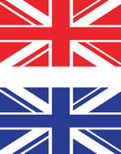Red and blue uk flag — Stockvector