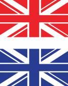 Red and blue uk flag — Stockvektor
