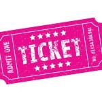 Pink ticket — Stock Vector #74236239