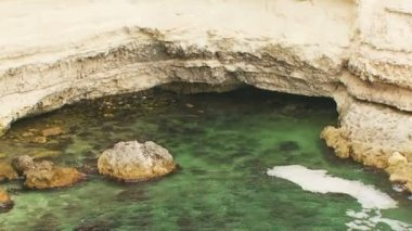 Scenics Black Sea Coast Of Cape Tarkhankut in Crimea — Stock Video