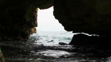Magic Black Sea Coast Of Cape Tarkhankut in Crimea — Stock Video