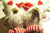 Dwa zakochany gnome. — Zdjęcie stockowe