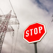 Power line and stop sign — Stock Photo #58278665