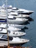 Marina with yachts — Stock Photo