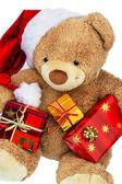 クリスマスのギフトを持つテディー ・ ベア — ストック写真