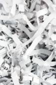Shredded paper close up — Stock Photo