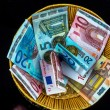 Basket with money from donations — Stock Photo #58284189