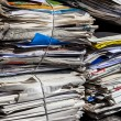 Stack of waste paper. old newspapers — Stok fotoğraf #58284637