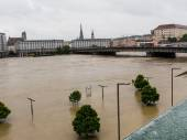 Flood in 2013, linz, austria — Stockfoto