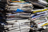 Stack of waste paper. old newspapers — Stock Photo