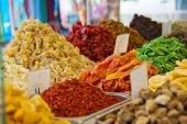 Weekly market, fresh food — Stockfoto