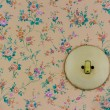 Old wallpaper with light switch — Stock Photo #58349491