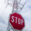 Power line and stop sign — Stock Photo #58350881