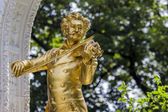 Johann Strauss statue  Vienna, Austria. — Stock Photo
