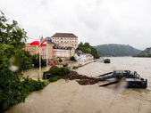 Flood in 2013, linz, austria — Stockfoto