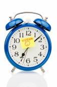 Alarm clock on vacation beginning — Stock Photo
