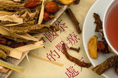 Tea of traditional chinese medicine — Stock Photo