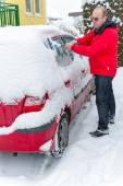 Snowed car — Stock Photo