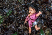 Symbol photo maltreatment of children — Stock fotografie