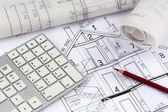 Blueprint for a house — Stock Photo