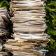 Stack of waste paper. old newspapers — Стоковое фото #58583067