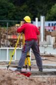 Construction worker on a construction site — Foto de Stock