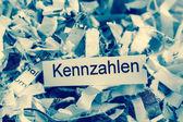 Shredded paper keyword metrics — Stock Photo