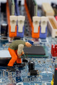 Computer board and construction — Stock Photo