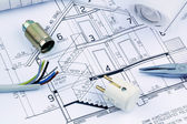 A house plan. electrical — Stock Photo
