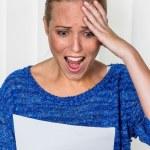 Woman gets bad news — Stock Photo #58648991
