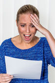 Woman gets bad news — Stock Photo