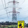 Power line and stop sign — Stock Photo #58650715