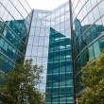 Facade of a modern office building london — Stock Photo #58652537