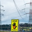 Power line and stop sign — Stock Photo #58652869