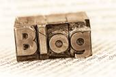 Blog in lead letters — Stock Photo